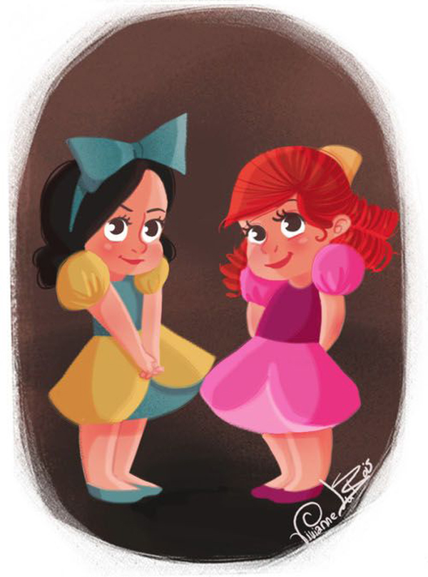 Disney Villian step sisters as a cute babies