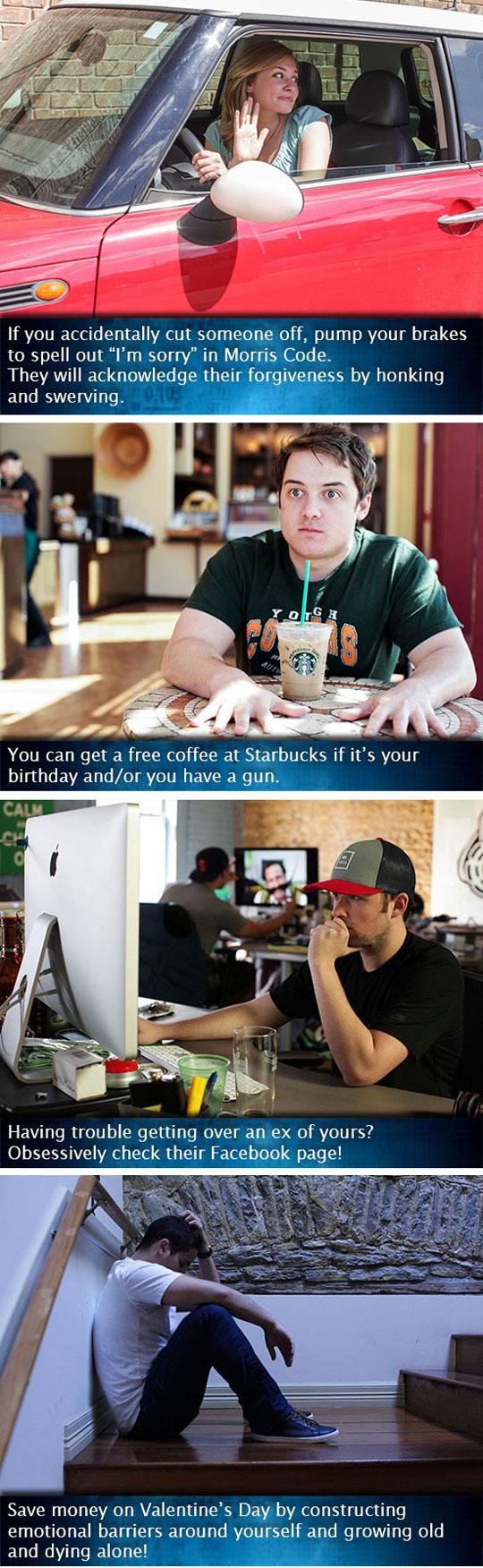 Unhelpful Life Hacks