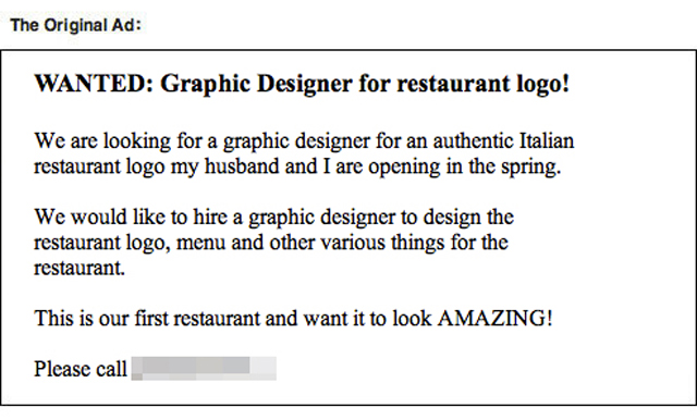 Graphic designer text troll