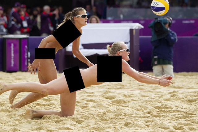 women's beach volleyball censored
