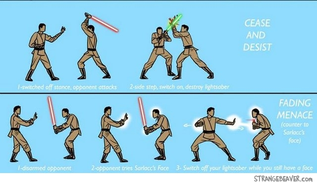 Star Wars - alternative lightsaber technique