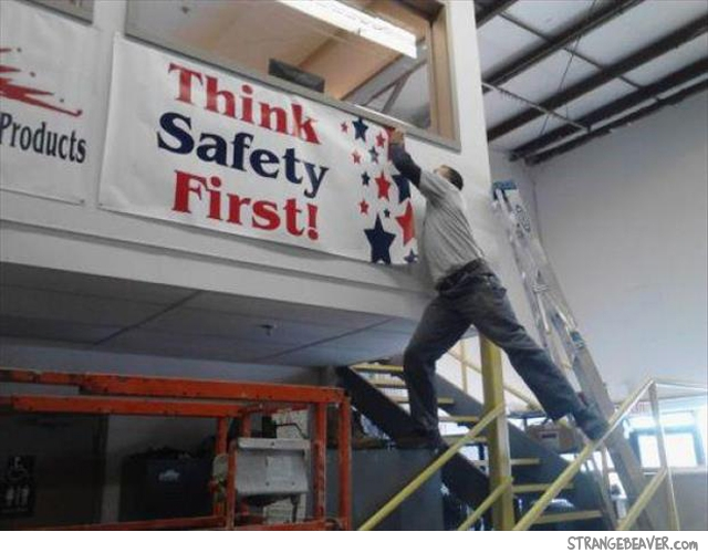 Funny stupid safety fail