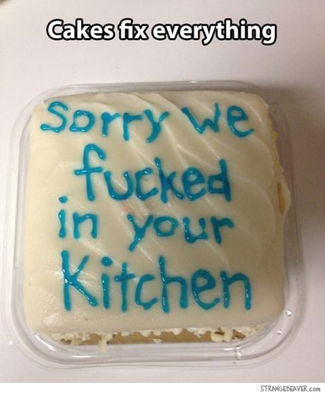 Funny cake message