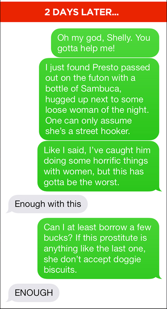 Funny dog trainer text troll