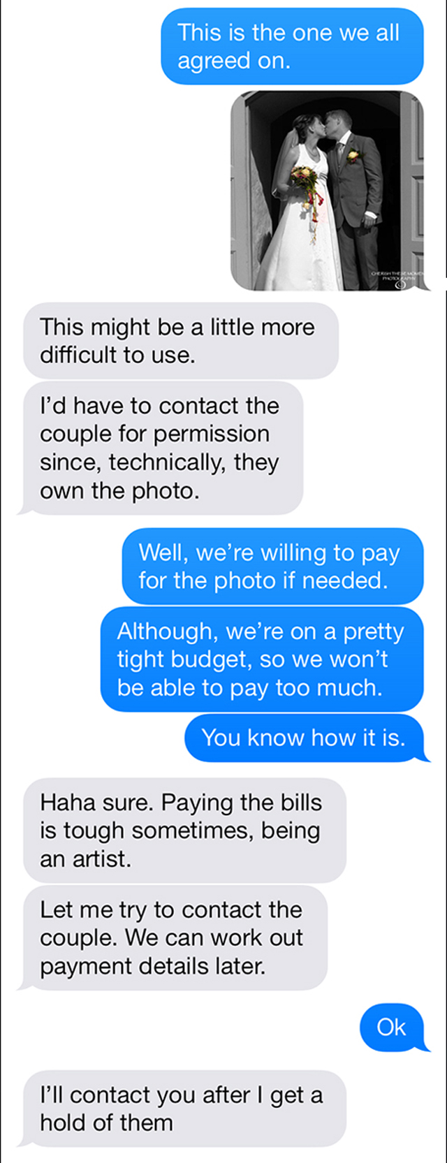 Photographer gets text trolled