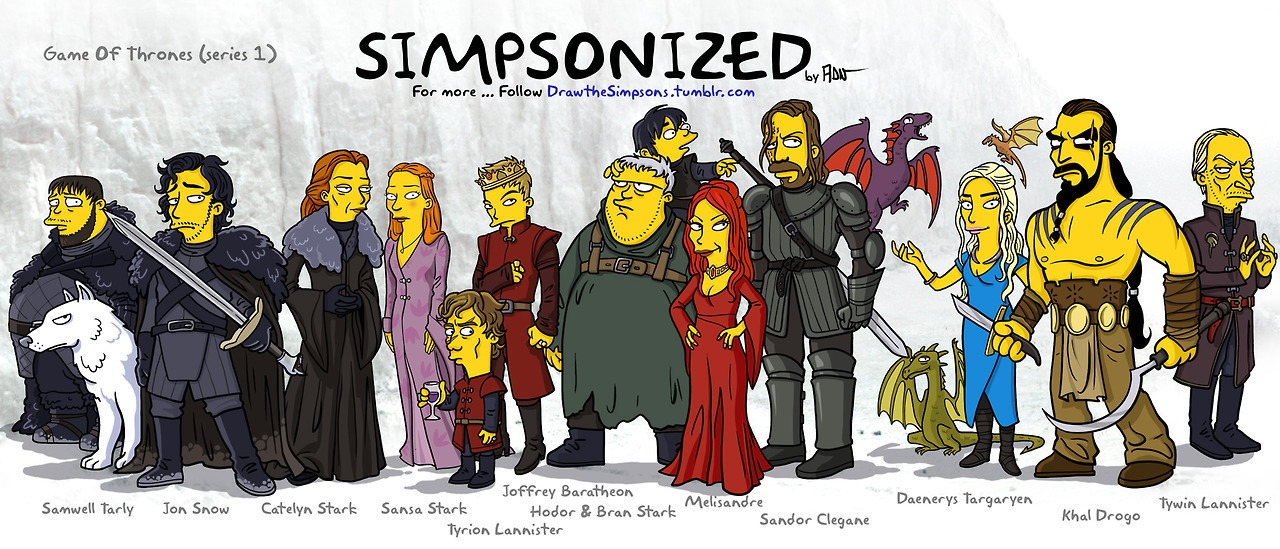 TV and movie characters with a Simpson's makeover