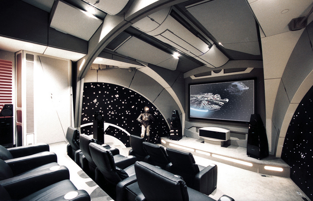 Cool Star Wars Death Star themed home theater