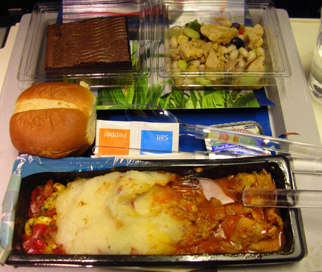 Gross airline food