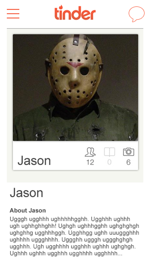 Scary dating profiles