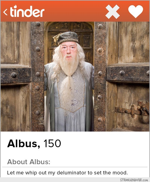 Harry Potter Tinder profile