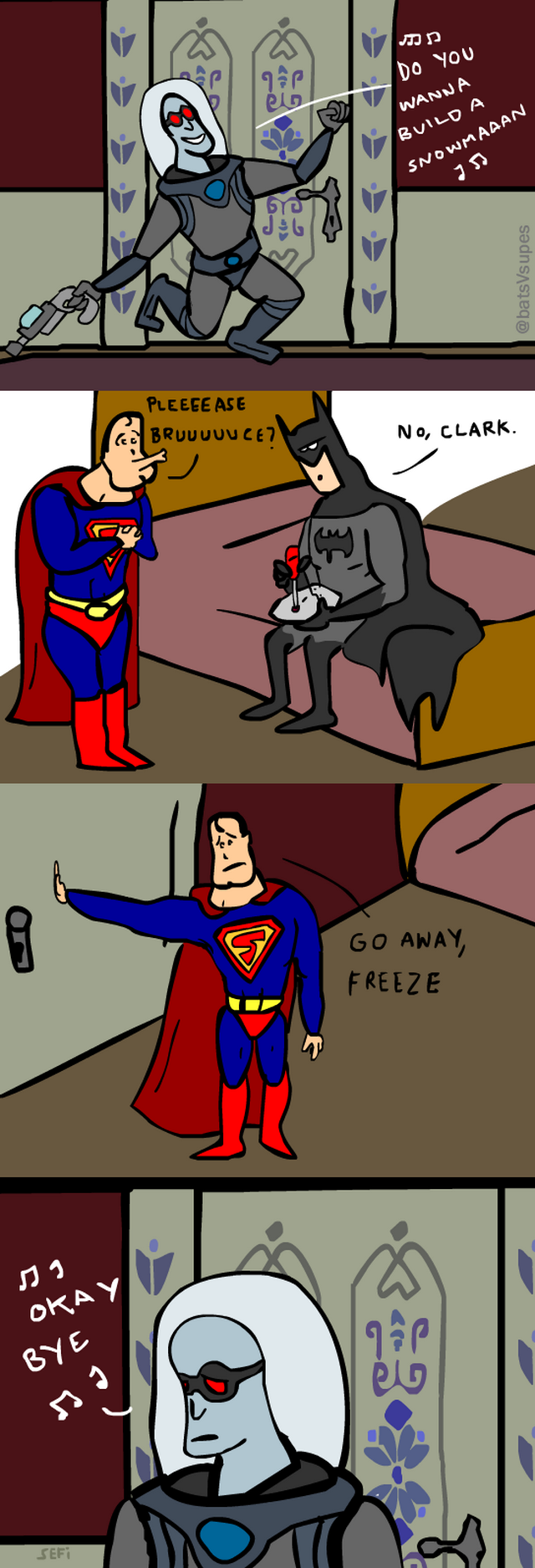 funny Batman vs Superman comic