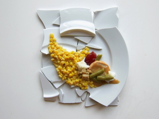 What Thanksgiving Dinner would look like if it was prepared by a famous artist- Julian Schnabel