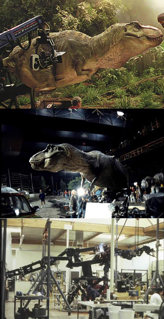 Jurassic Park Dinosaurs Behind These Scenes