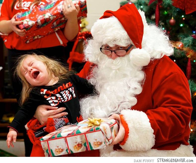 Funny pictures with Santa