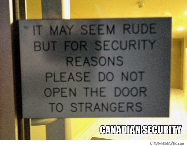 Funny things about Canadians