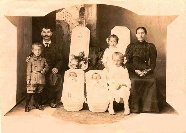 Creepy and strange vintage family photo