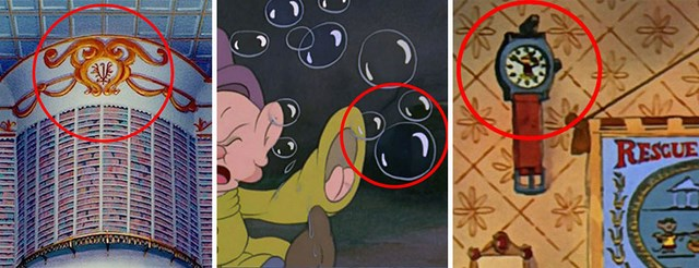 Hidden Mickey in popular Disney Films