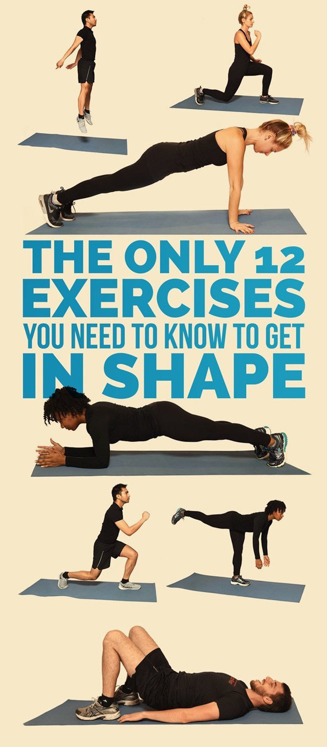 Easy at home exercises to get you in shape