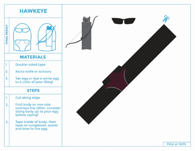 Hawkeye Printable Easter Egg Costume