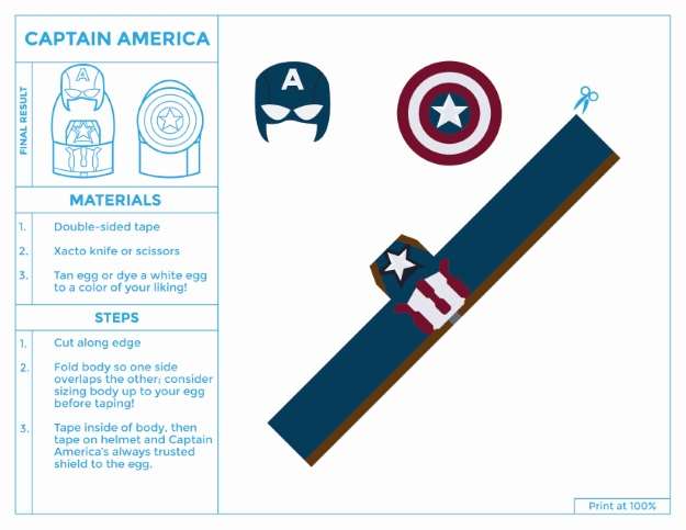Printable Captain America Egg Costume
