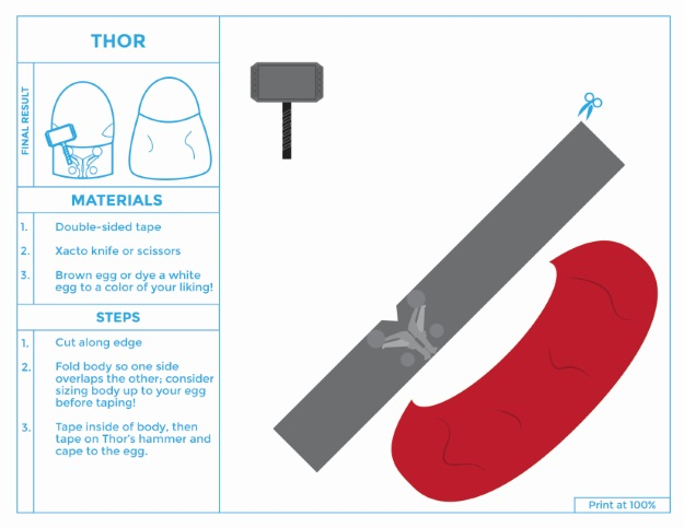 Printable Thor Easter Egg Costume