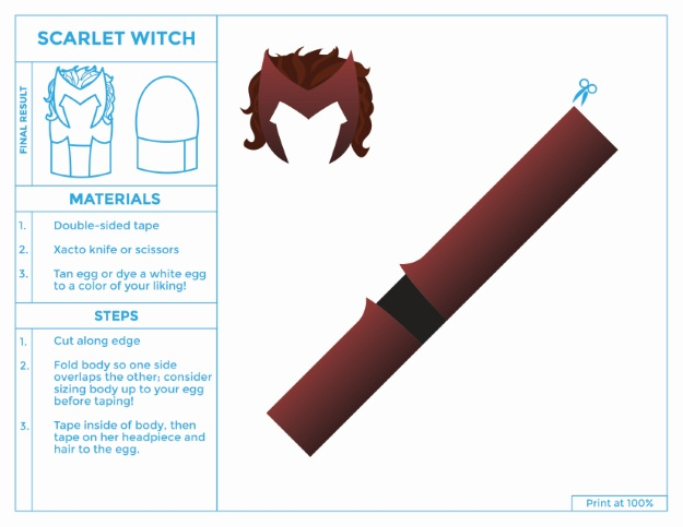 Scarlet Witch Easter Egg Costume