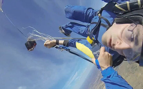 skydiver seizure