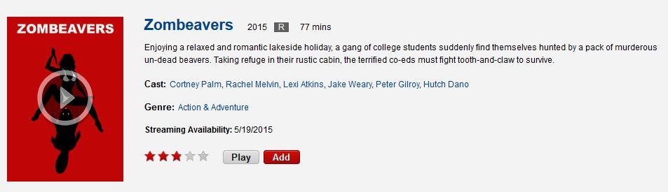 Zombeavers on Netflix