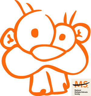 Orange Beaver sticker for MS