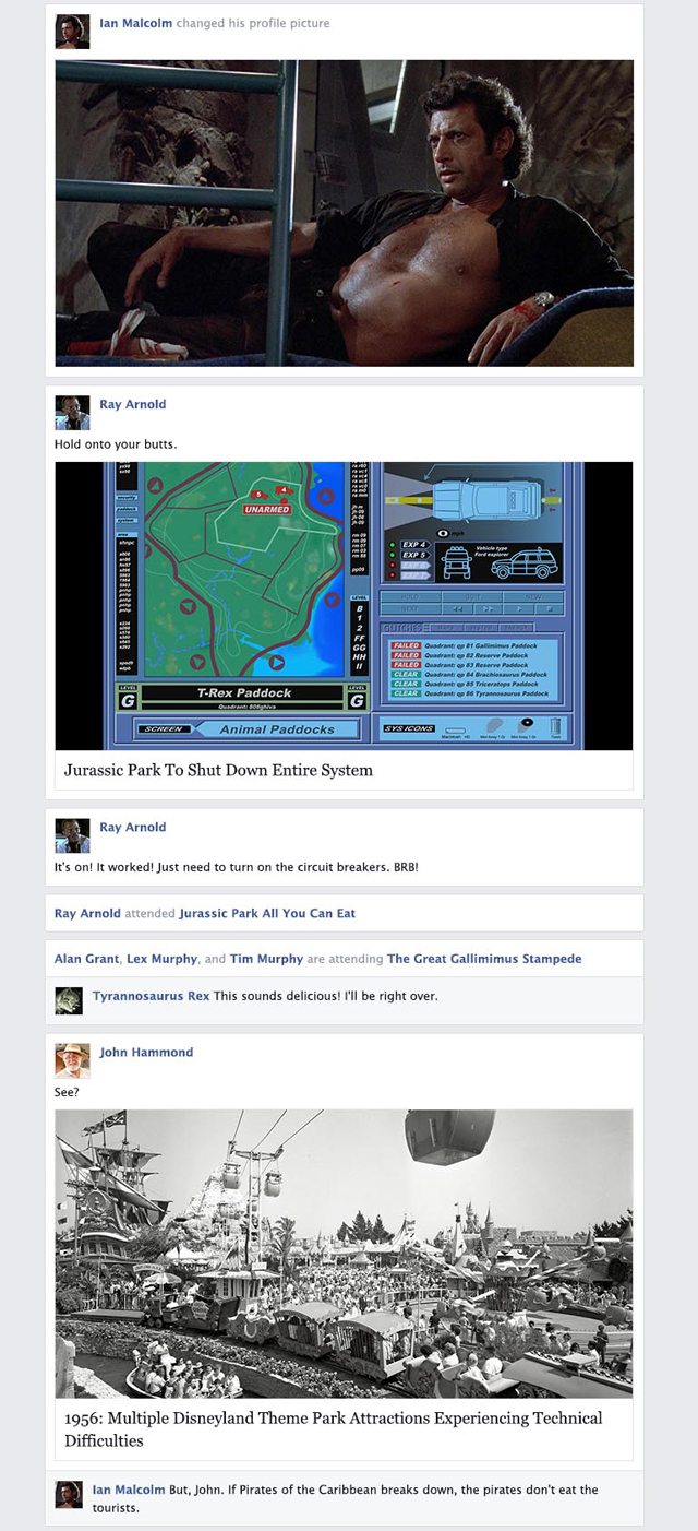 If 'Jurassic Park' Took Place on Facebook