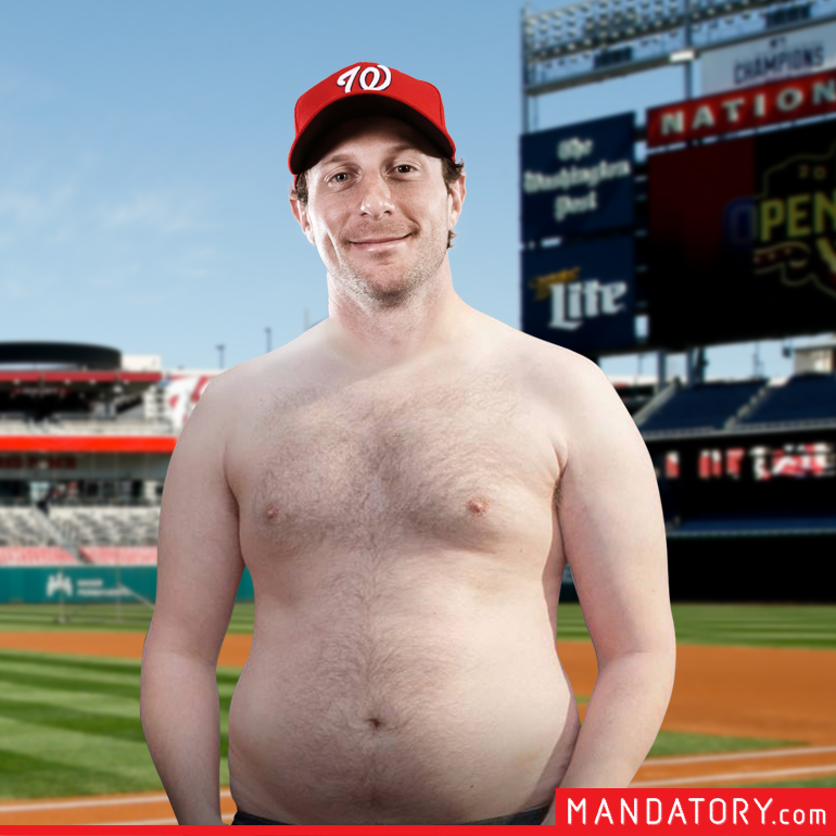 Shirtless Max Scherzer