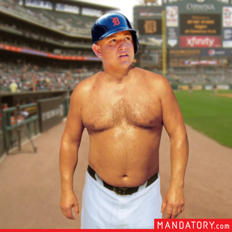 Shirtless Miguel Cabrera