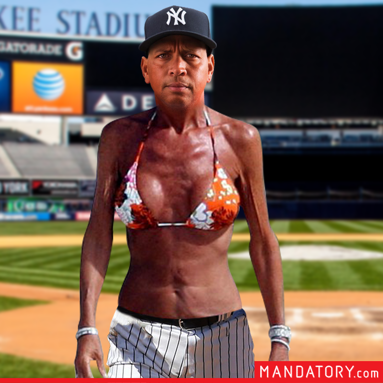 Shirtless Alex Rodriguez