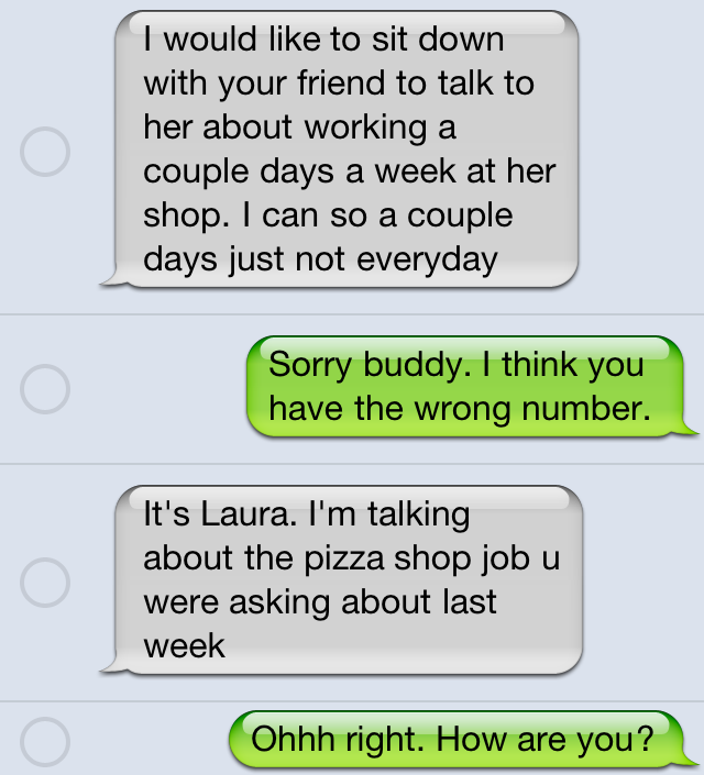 Funny wrong number text trolling