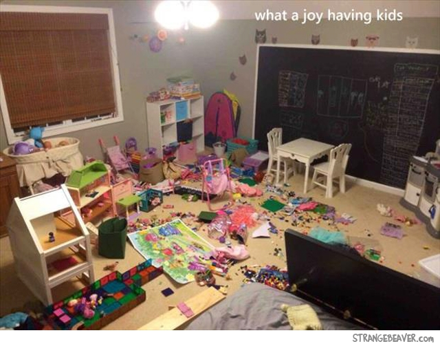 Kids making messes