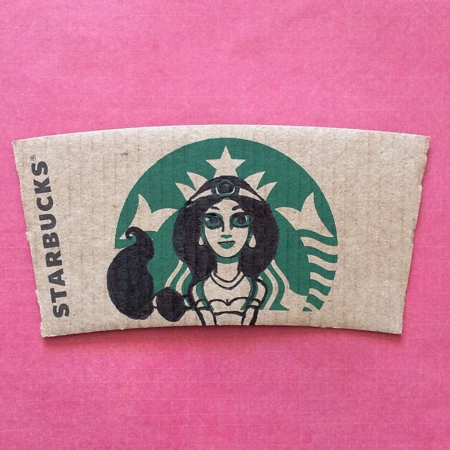 Starbucks Sleeve Art - Disney Edition