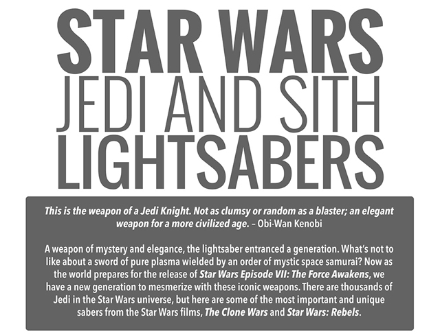 The History Of Jedi And Sith Lightsabers
