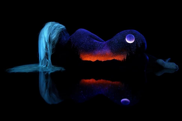 Incredible Black Light Bodyscapes Photography by John Poppleton