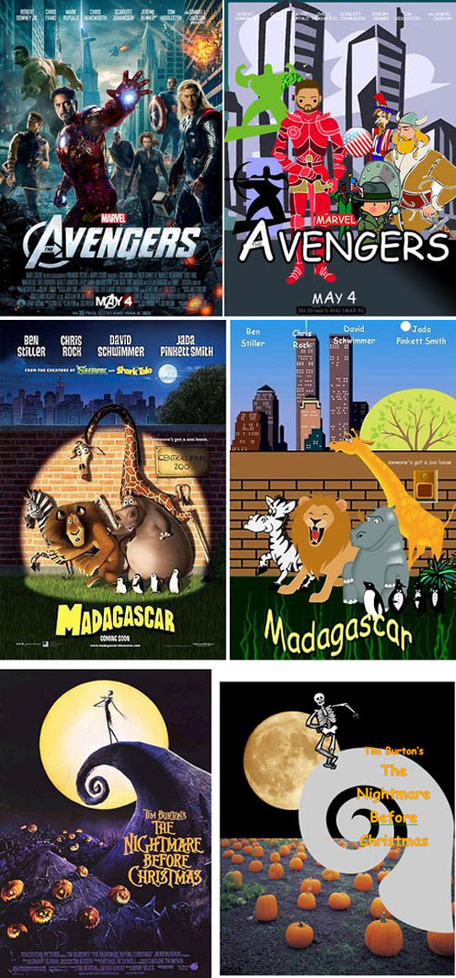 Movie Posters Recreated Using Comic Sans And Clip Art