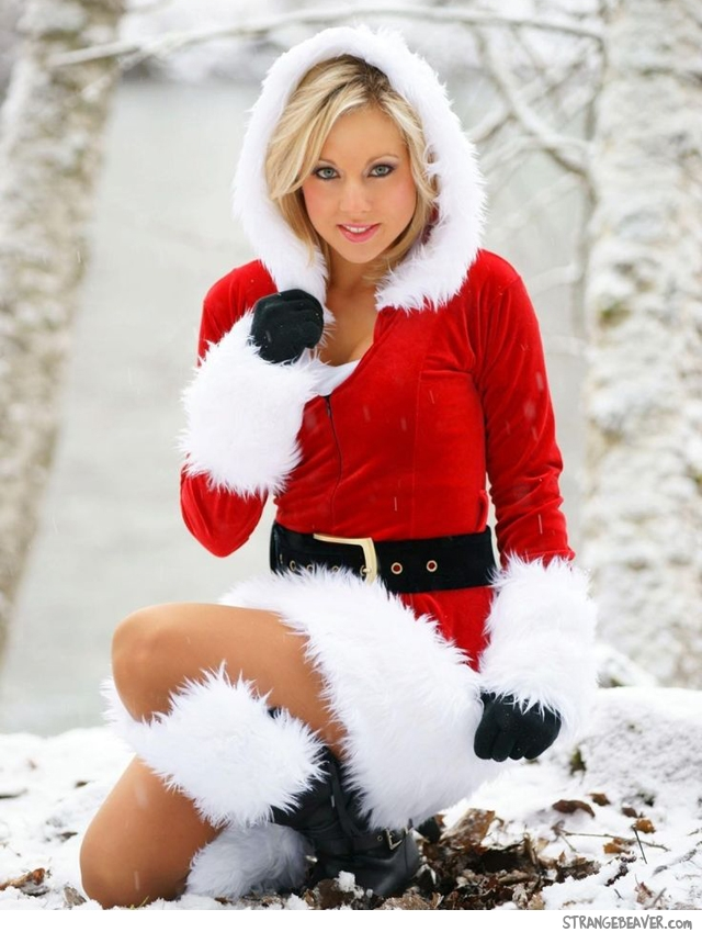 cute sexy christmas girl