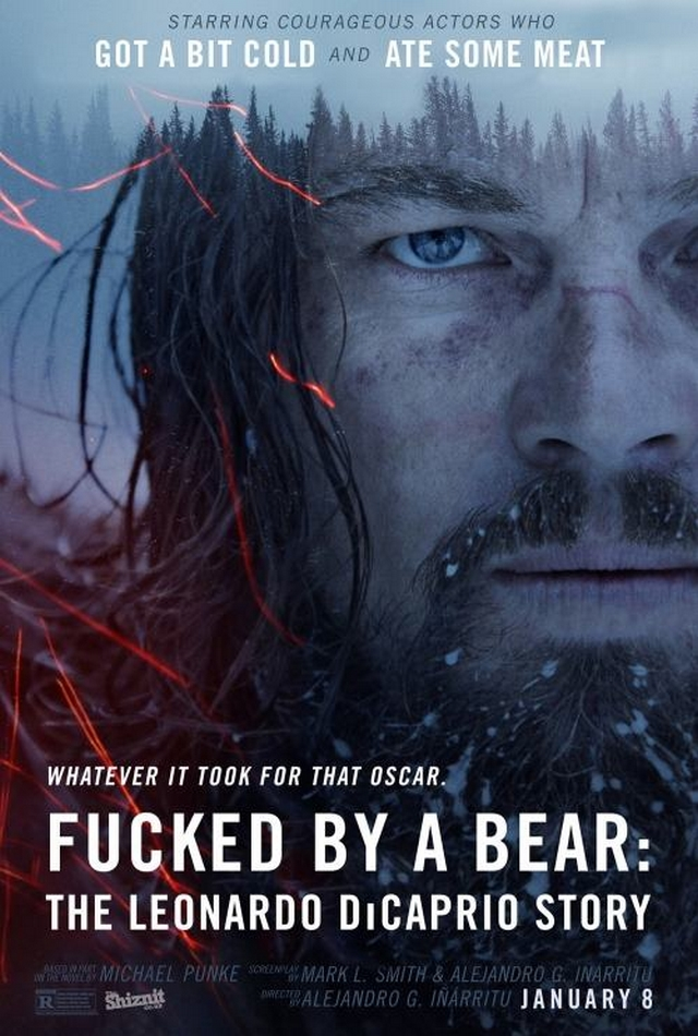 Honest movie poster from the 2016 Oscar nominations