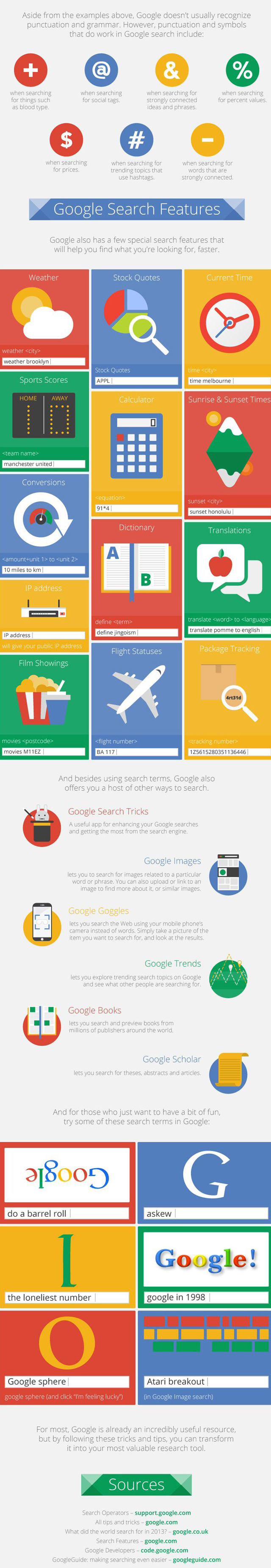 Awesome Google tips and tricks