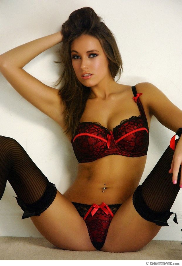 girl in lingerie