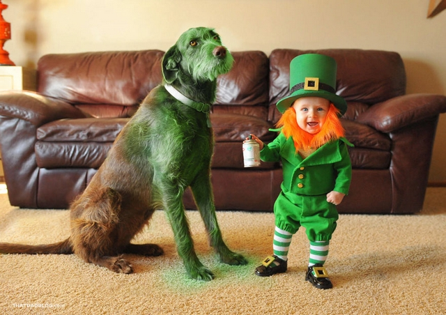 Dad Turns His 6-Month-Old Baby Into A Mischievous Leprechaun