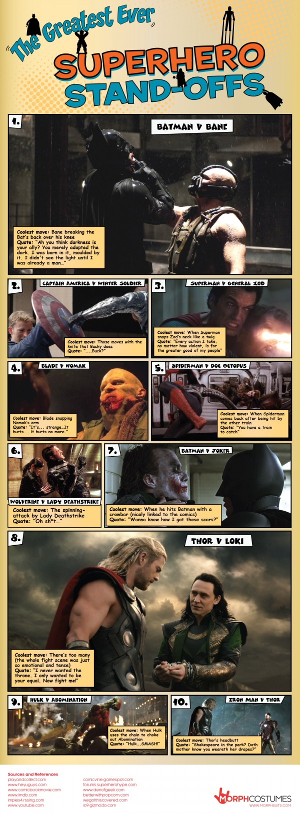 The 10 Greatest Superhero Standoffs In History (Infographic)
