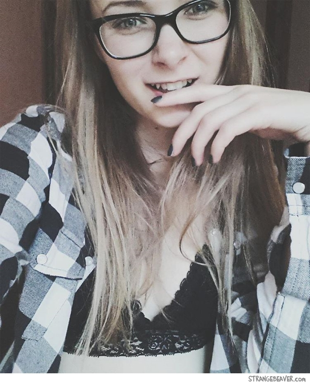 Beautiful girl with glasses