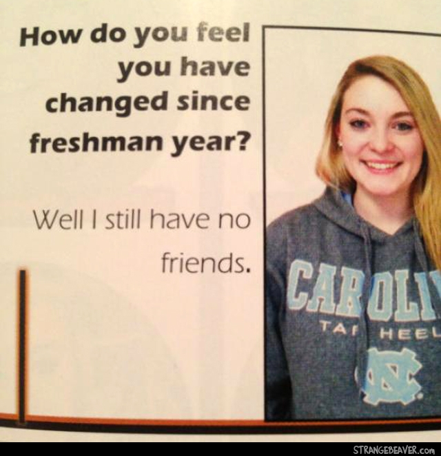 Funny scenes from a yearbook