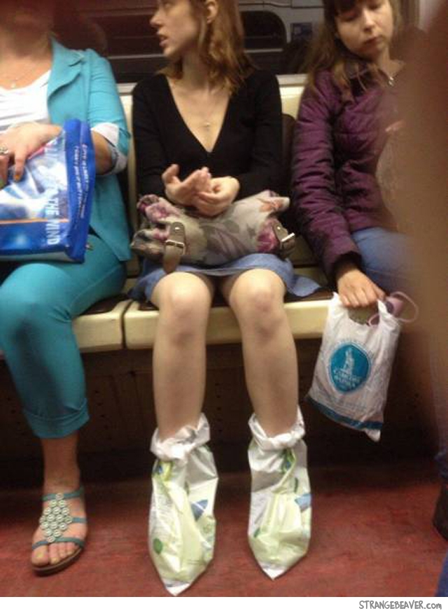 Funny things seen on the subway