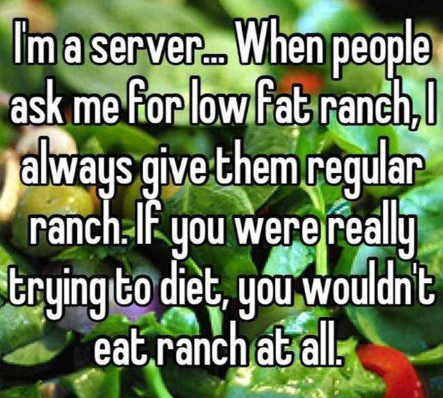 Funny Confessions From Resturant Workers