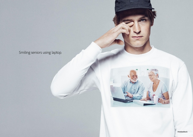 Funny Adobe stock photo shirt